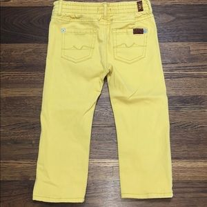 7 For All Mankind Yellow Jeans